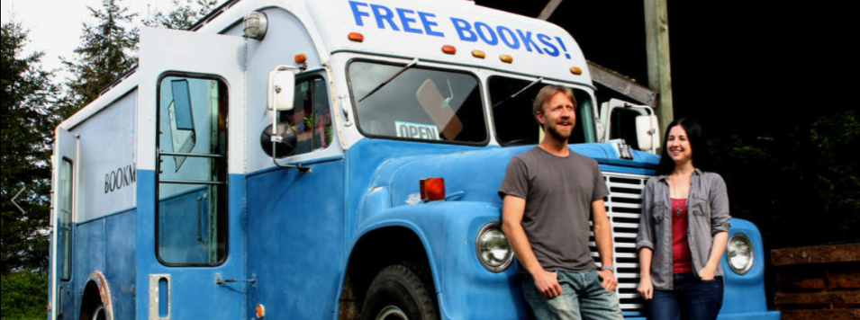 bookmobile, j.c. geiger, wildman, hanging shoes, kelsey geiger, libraries, bookstore, project