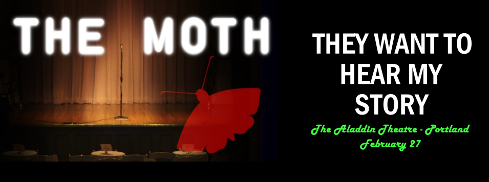 The moth grandslam, story slam, jc geiger, j.c. geiger, author jc geiger, eugene authors, portland authors, author events, storytelling events